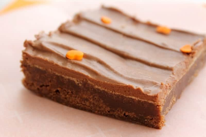 Lunch Lady Pumpkin Brownies | The Bitter Side of Sweet
