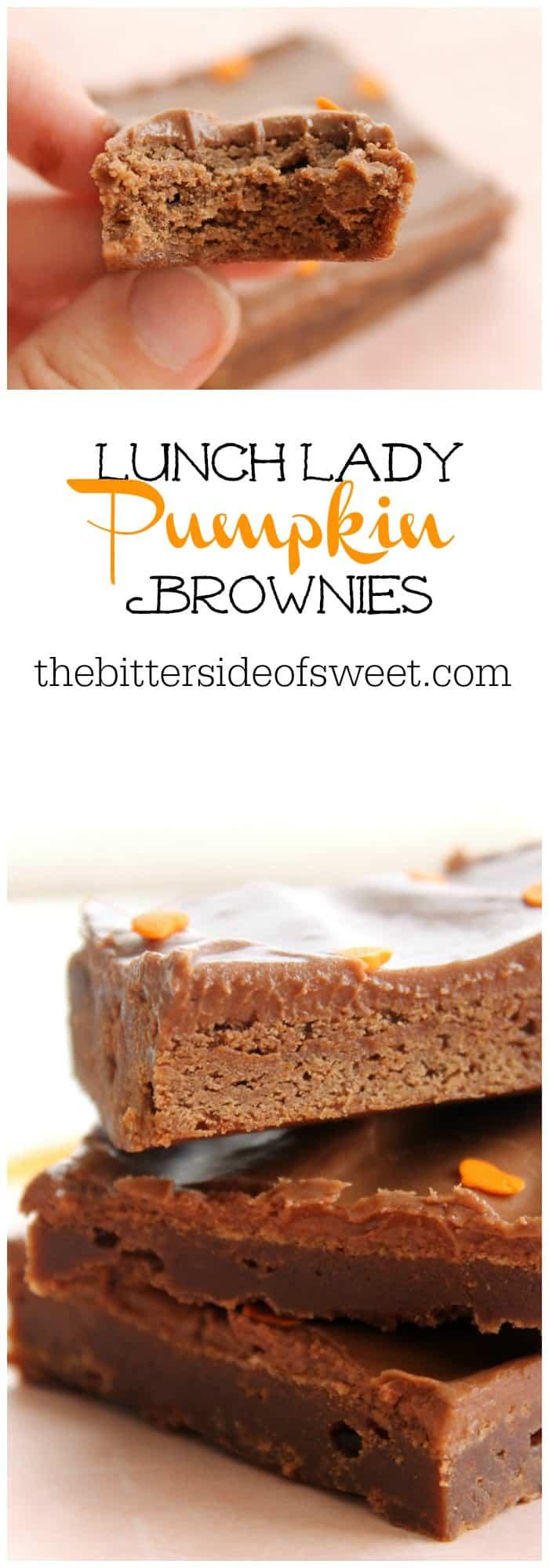 Lunch Lady Pumpkin Brownies Thebittersideofsweet