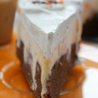 Pumpkin Brownie Ice Cream Cake | The Bitter Side of Sweet #FoundMyDelight