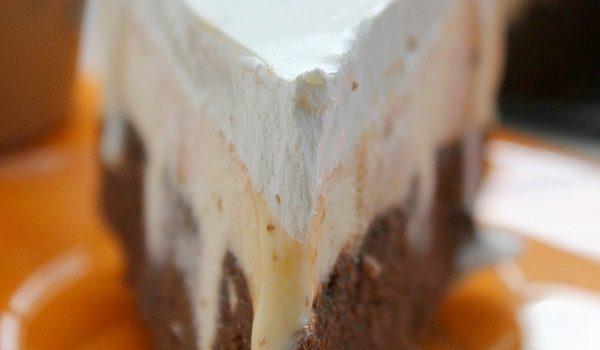 Pumpkin Brownie Ice Cream Cake