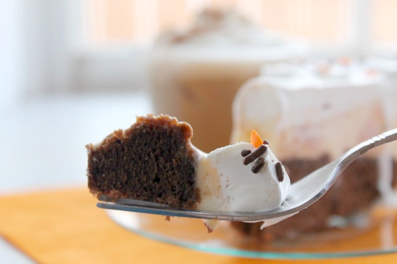 Pumpkin Brownie Ice Cream Cake | The Bitter Side of Sweet