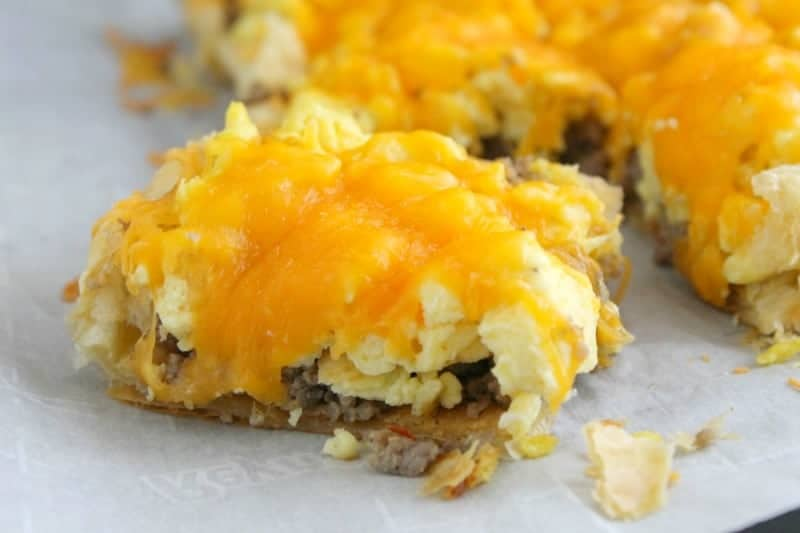 Sausage, Egg & Cheese Breakfast Tart. shared by The Bitter Side of Sweet  at The Chicken Chick's Clever Chicks Blog Hop!