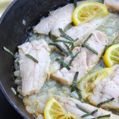 Lemon and Sage Fish
