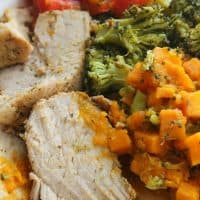 One Pot Roasted Garlic and Herbs Pork with Veggies