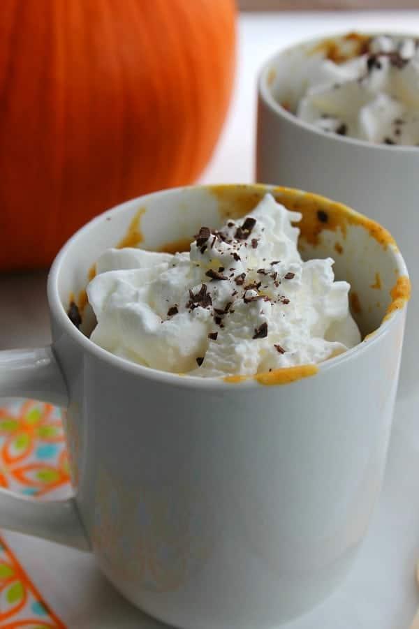 Chocolate Chip Pumpkin Mug Cake - The Bitter Side of Sweet