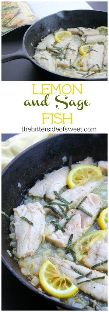 Lemon and Sage Fish in skillet