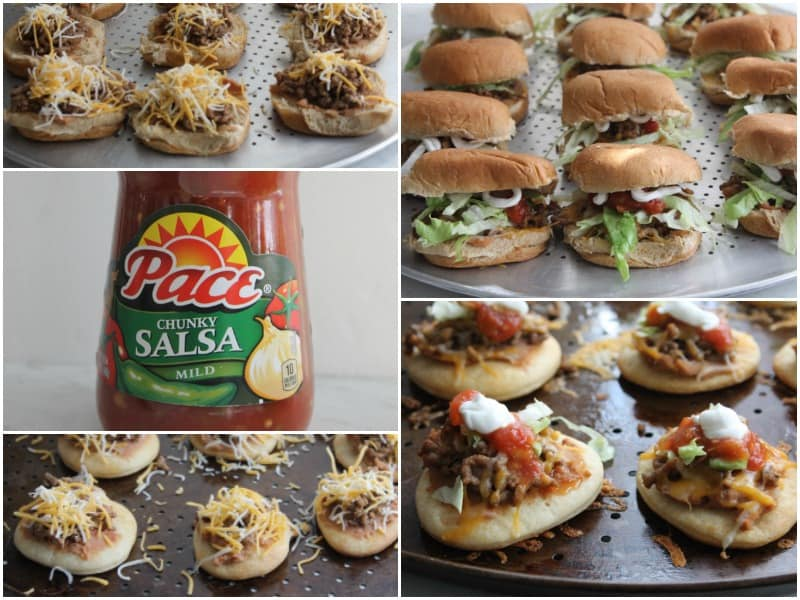 Mini Taco Pizzas and Sliders | The Bitter Side of Sweet #MakeGameTimeSaucy #ad