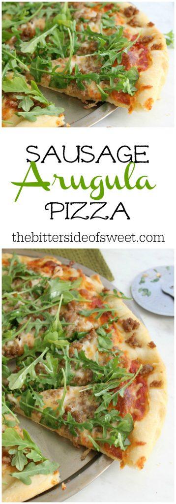 Sausage Arugula Pizza | The Bitter Side of Sweet #SundaySupper