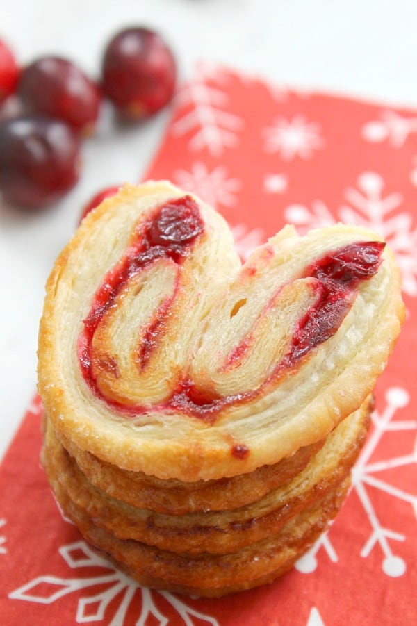 Cranberry Palmiers | The Bitter Side of Sweet #CranberryWeek