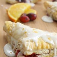 Orange Cranberry Turnovers #CranberryWeek