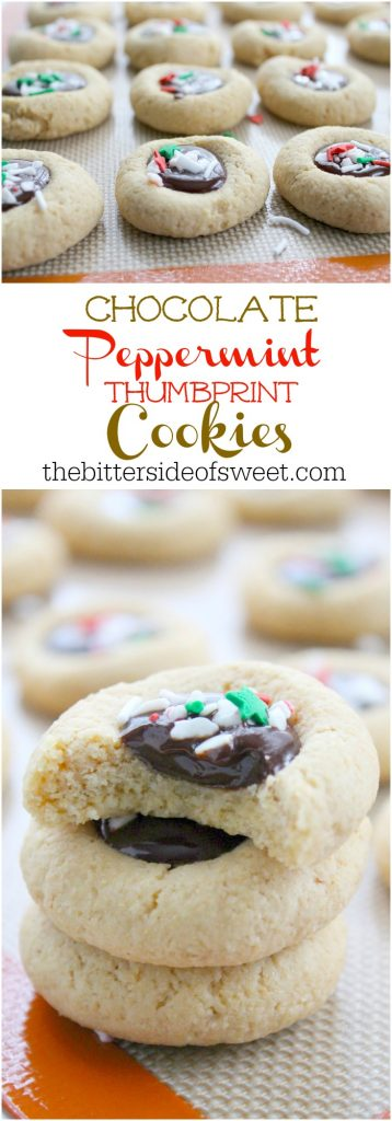 Chocolate Peppermint Thumbprint Cookies | The Bitter Side of Sweet