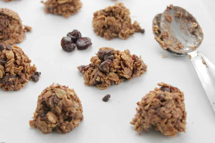 Chocolate Cherry No Bake Cookies | The Bitter Side of Sweet