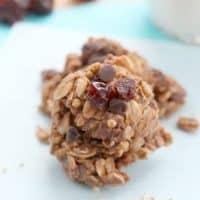 Chocolate Cherry No Bake Cookies