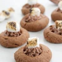 Toasted Marshmallow Thumbprint Cookies (Pay it Forward)