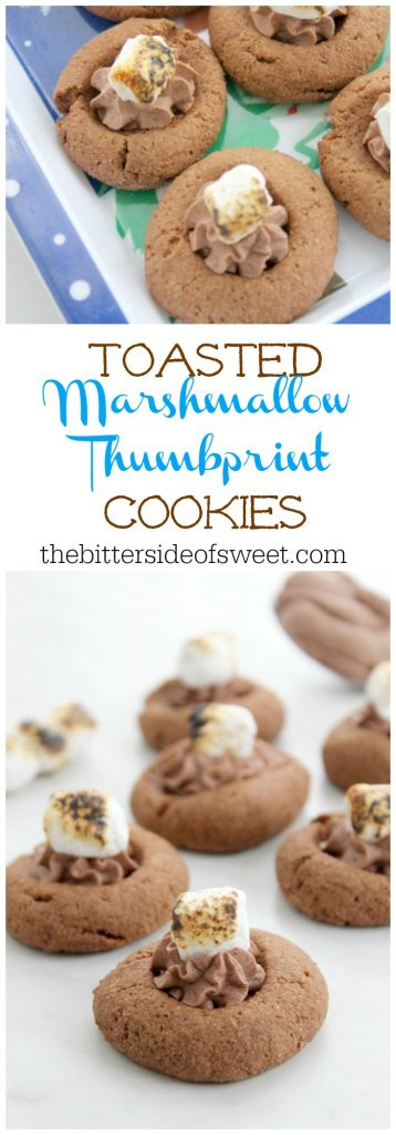 Toasted Marshmallow Thumbprint Cookies   The Bitter Side of Sweet