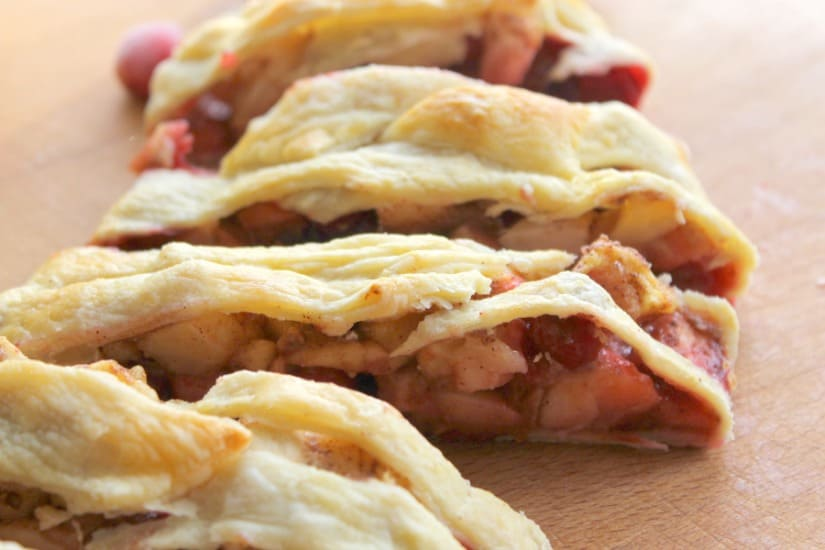 Cranberry Apple Strudel | The Bitter Side of Sweet