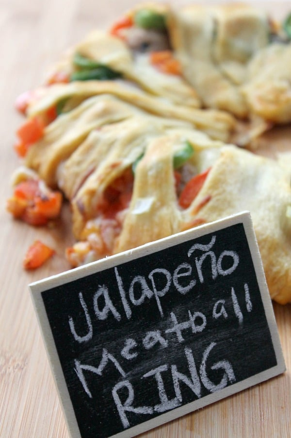 Jalapeño Meatball Ring