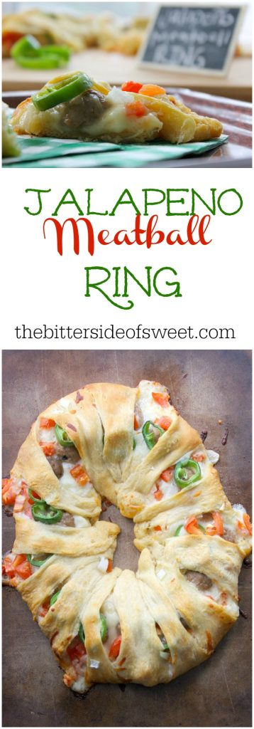 Jalapeño Meatball Ring | The Bitter Side of Sweet
