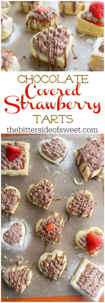 Chocolate Covered Strawberry Tarts | The Bitter Side of Sweet