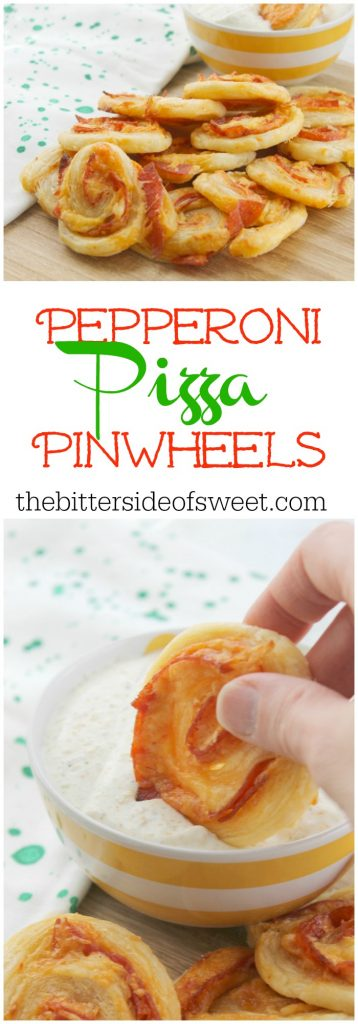 Pepperoni Pizza Pinwheels | The Bitter Side of Sweet