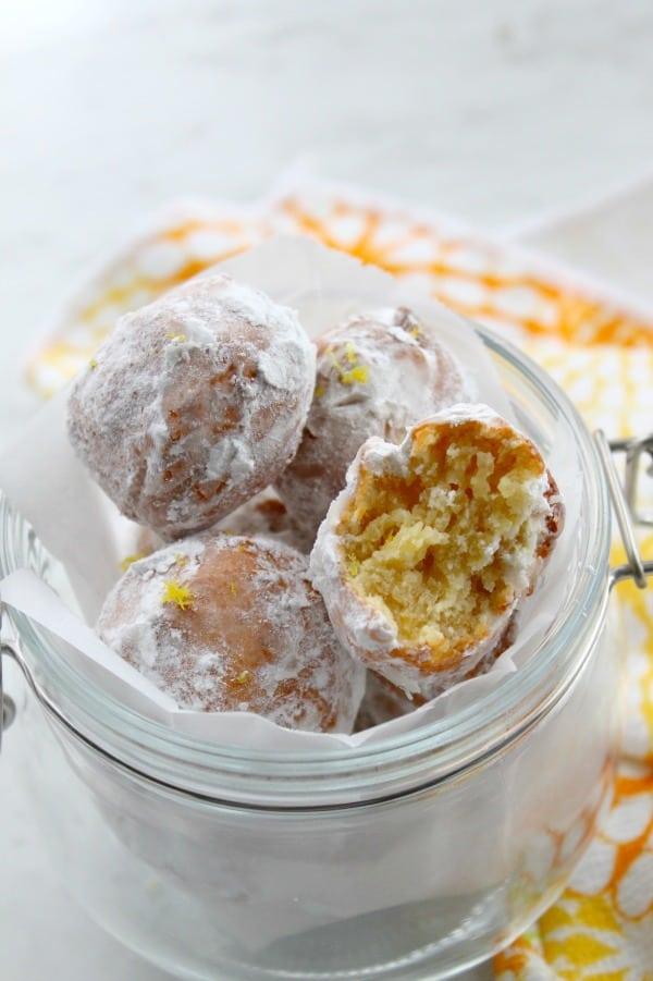 Lemon Donut Holes | The Bitter Side of Sweet