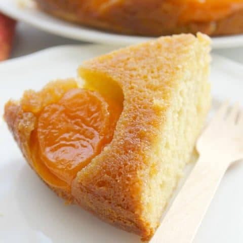 Upside Down Brown Sugar Apricot Cake (#SundaySupper)
