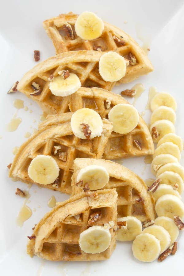 Strawberry Banana Waffles | The Bitter Side of Sweet