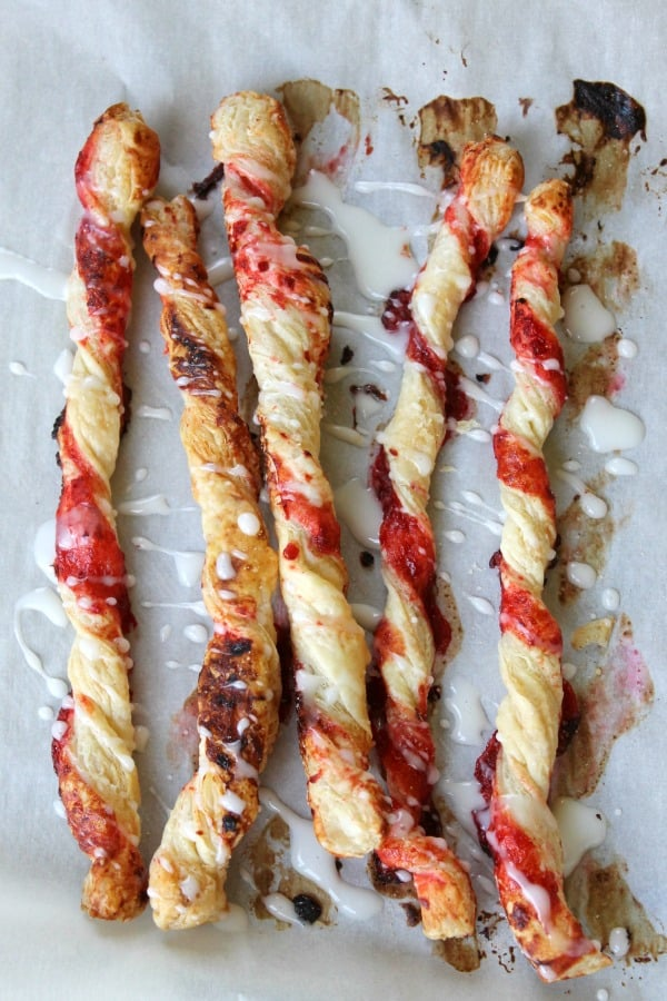 Cherry Pie Cinnamon Sticks | The Bitter Side of Sweet