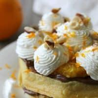Chocolate Hazelnut Orange Waffle Cake