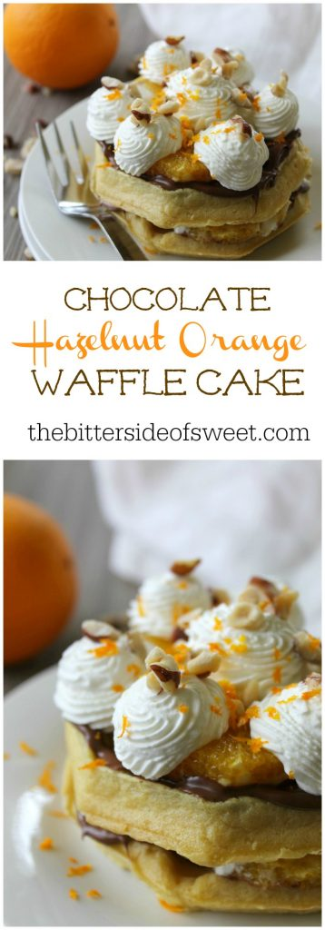 Chocolate Hazelnut Orange Waffle Cake | The Bitter Side of Sweet #ad #LeggoMyEggo #HearTheNews