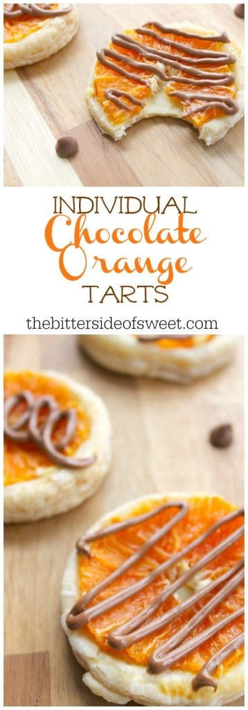 Individual Chocolate Orange Tarts | The Bitter Side of Sweet