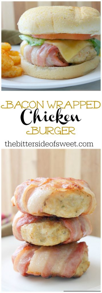 Bacon Wrapped Chicken Burger | The Bitter Side of Sweet #girlcarnivore #burgermonth