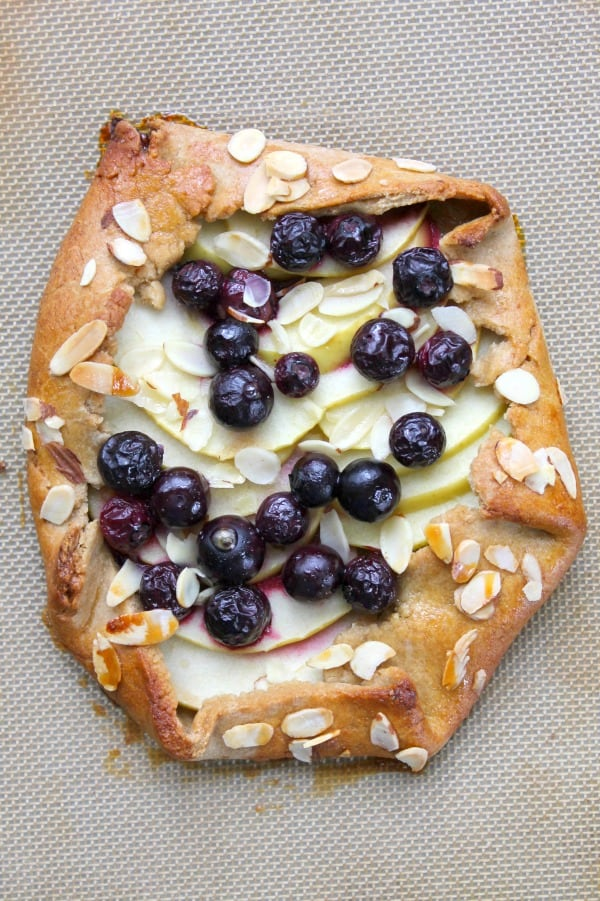 Apple Blueberry Galette | The Bitter Side of Sweet