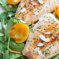 Grilled Salmon Salad with Apricot Dressing
