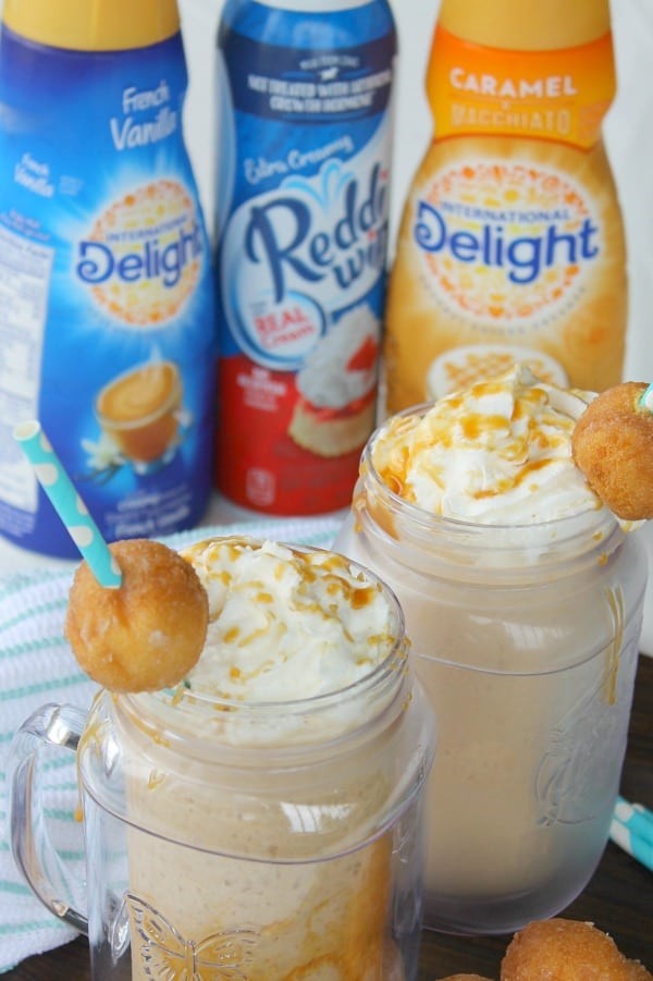 Salted Caramel Donut Holes Frappe | The Bitter Side of Sweet #ad #FrappeYourWay