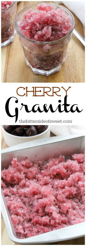 Cherry Granita | The Bitter Side of Sweet #SummerDessertWeek #ad