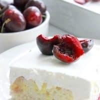 Cherry Vanilla Poke Cake #SummerDessertWeek