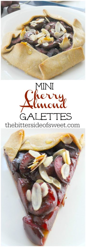 Mini Cherry Almond Galettes| The Bitter Side of Sweet #SummerDessertWeek #ad