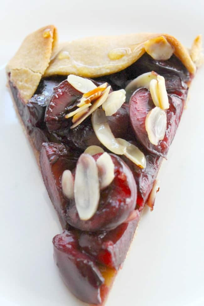 Mini Cherry Almond Galettes  The Bitter Side of Sweet #SummerDessertWeek #ad