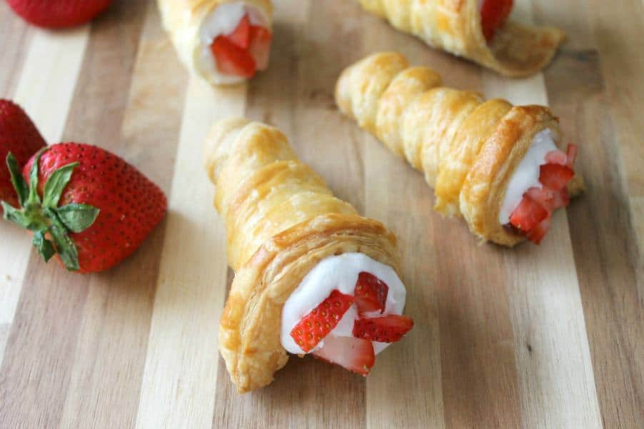 Strawberry Shortcake Horns | The Bitter Side of Sweet