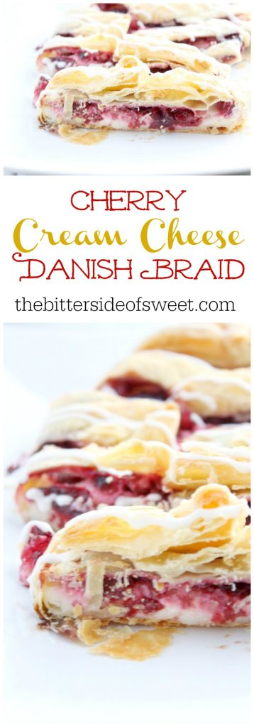 Cherry Cream Cheese Danish Braid | The Bitter Side of Sweet