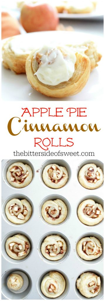 Apple Pie Cinnamon Rolls | The Bitter Side of Sweet