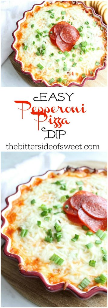 Easy Pepperoni Pizza Dip | The Bitter Side of Sweet