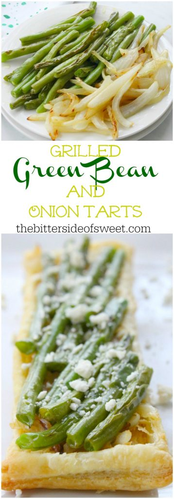Grilled Green Beans and Onion Tarts | The Bitter Side of Sweet