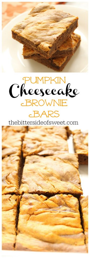 Pumpkin Cheesecake Brownie Bars | The Bitter Side of Sweet