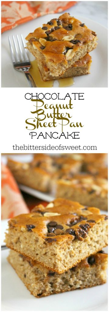 Chocolate Peanut Butter Sheet Pan Pancake