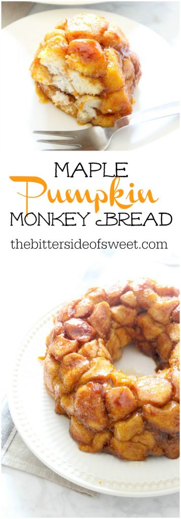 Maple Pumpkin Monkey Bread | The Bitter Side of Sweet #PumpkinWeek