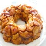Maple Pumpkin Monkey Bread on white plate