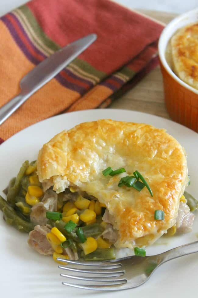 Leftover Turkey Puff Pastry Pot Pies | The Bitter Side of Sweet #turkey #leftovers #dinner