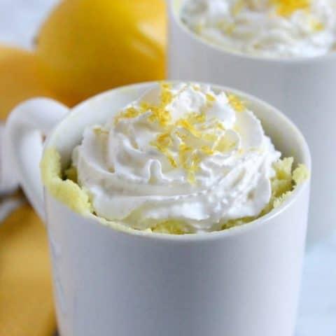 Lemon Cheesecake Mug Cake | The Bitter Side of Sweet #lemon #cake #cheesecake